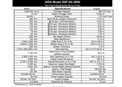 330 ton Aida Servo Press