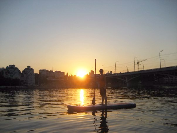закат чернавский мост