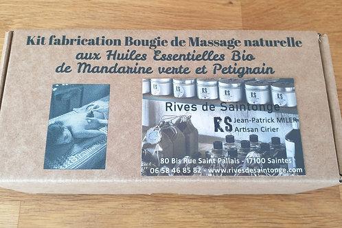 Kit fabrication bougie de massage