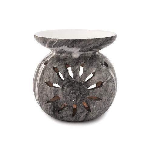 Brûleur pour fondant parfumé céramique grise