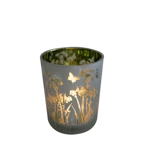 Bougie parfumée naturelle Fleur de Coton verre