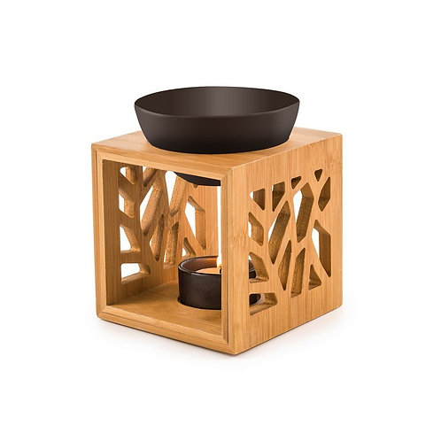 Brûleur fondant parfumé /  Bambou / Céramique Noire
