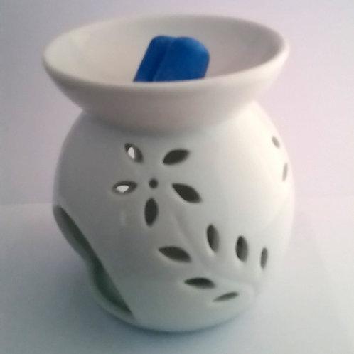 Brûleur fondants parfumés céramique blanche