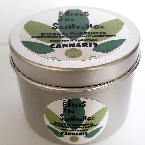Bougie naturelle parfumée cannabis