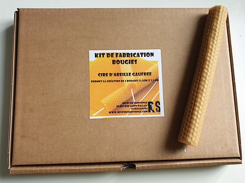 Kit fabrication bougie cire abeille gaufrée