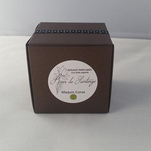 Bougie parfumée naturelle Maquis Corse verre