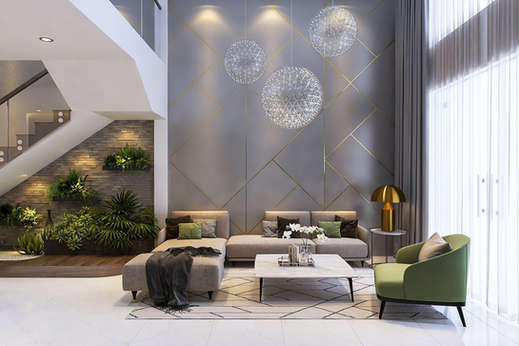 Double height decor at Grand arch gurgaon