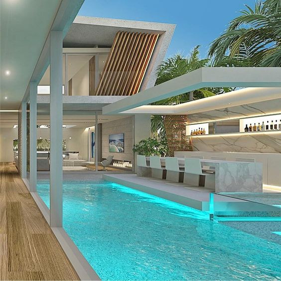 Luxurious Interior ideas with Swimming Pools