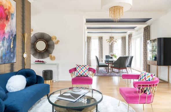 Vibrant colors interiors of sobha international city gurgaon
