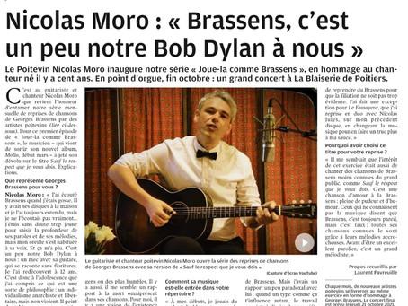 Nouvelle République 31 mars 21. Centenaire Brassens