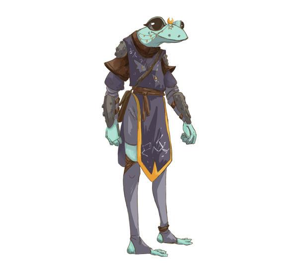 Frog Adventurer - Character Design & After Effects Puppet