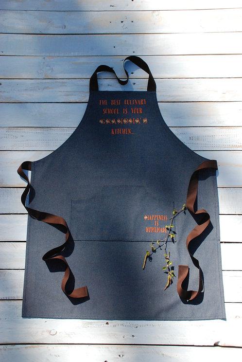 Denim apron, Джинсовый Фартук, Вышивка, machine embroidery