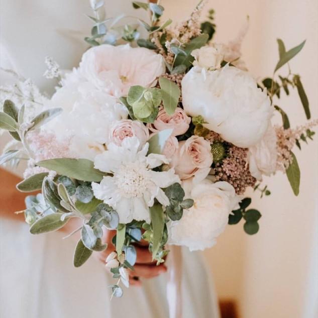 Bouquet tons pastel