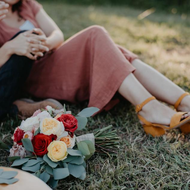 ramo de rosas inglesas de jardim
