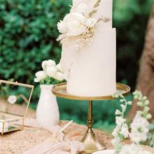 Decoração floral do bolo