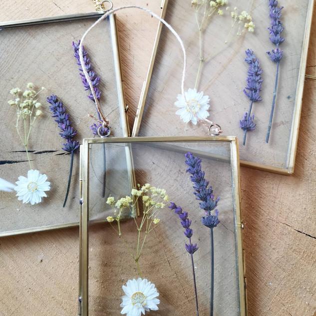 Quadro de flores prensadas
