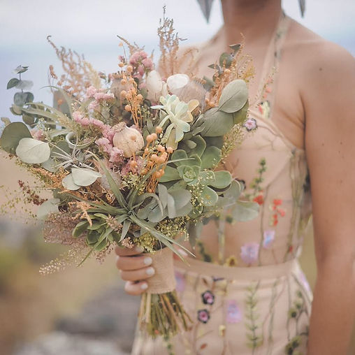 Bouquet de noiva desidratado