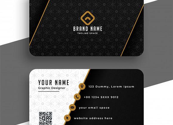 تصميم بطاقات الأعمال الإحترافية (بدون طباعة)