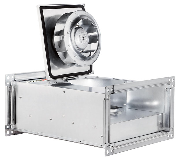 AC RECTANGULAR IN LINE DUCT FANS BACKWARD CURVED
