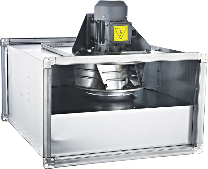 AC DIRECT DRIVE RECTANGULAR IN LINE DUCT FANS BACKWARD CURVED