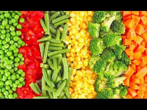الخضراوات المجمدة