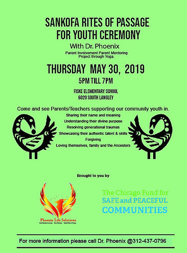 Sankofa Rites of Passage for Youth Cerem