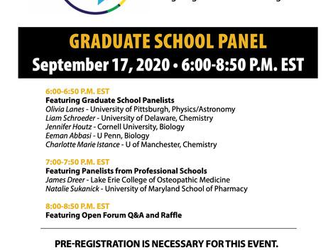 Graduate School Panel: 9/17 6PM