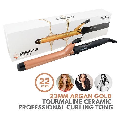 Argan Oil Infused Gold Ceramic Curler - 22mm