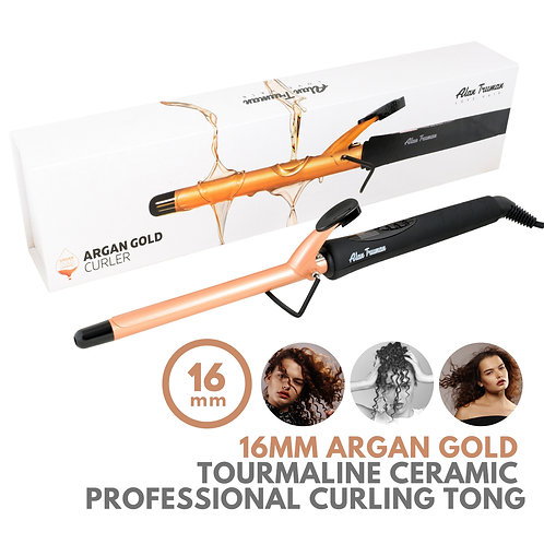 Argan Oil Infused Gold Ceramic Curler - 16mm