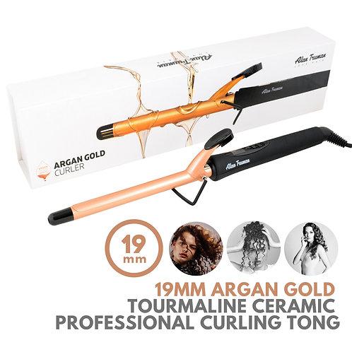 Argan Oil Infused Gold Ceramic Curler - 19mm