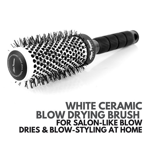 White Ceramic Blow-drying Brush - Medium (45mm)