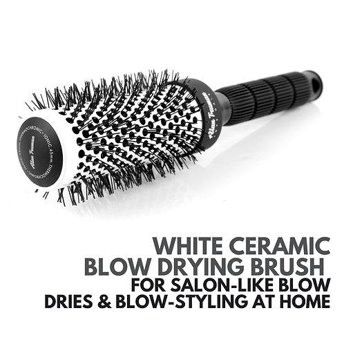 White Ceramic Blow-drying Brush - Large (53mm)