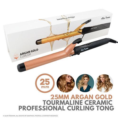 Argan Oil infused Gold Ceramic Curler - 25mm