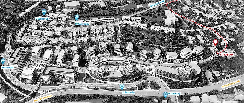 mapa areálu Waltrovka