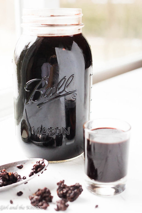 Fresh Organic Elderberry Syrup