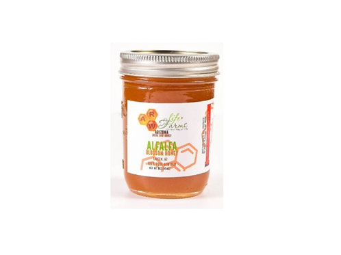 Clover Alfalfa raw honey from Laveen, AZ. 12oz
