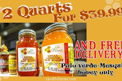 Honey Sale! 2 quarts of palo verde- mesquite honey