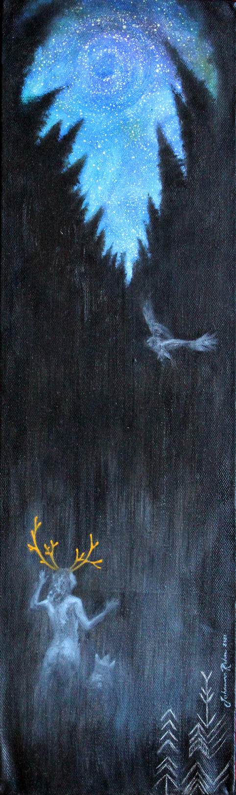 Möta mörkret, ur serien rötter (Encountering darkness, from the series Roots)