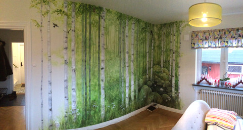 Birchforest in a private home