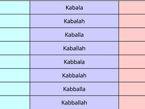 Kabbalah vs. Cabala vs. Qabalah