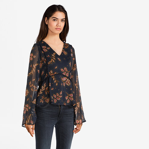 Autumn Paisley Sheer Top