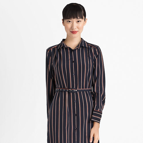 Button Up Striped Dress