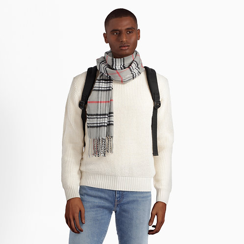 Wool Checkered Scarf