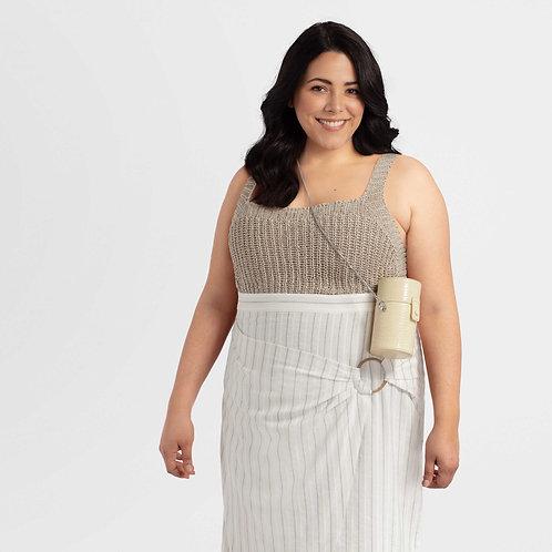 Linen Dress with Belt