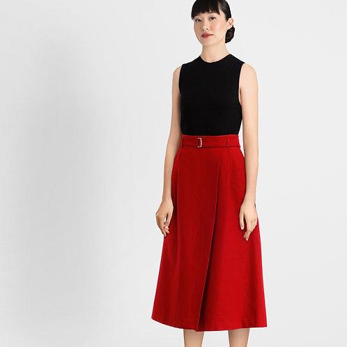 Red Dress wit Belt Details