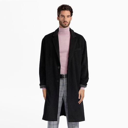 Black Wool Broadcloth Coat