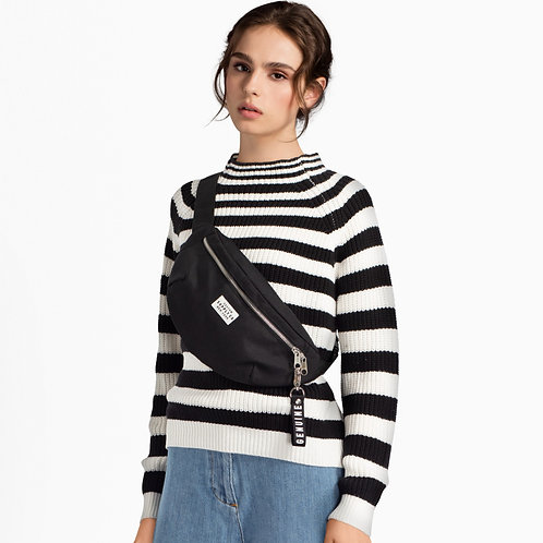 Black/White Striped Jumper