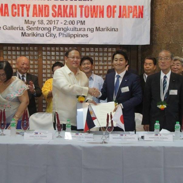 Sakai Town and Marikina City Sister City Linkage