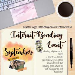 Interact Bonding Event ( Sept 6 )