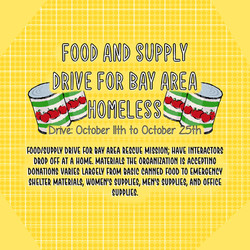 Food and Supply Drive for Bay Area Homeless